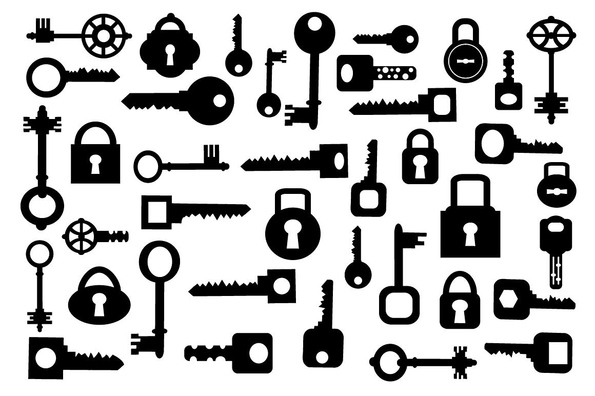 Set of vector elements  keys example image 2