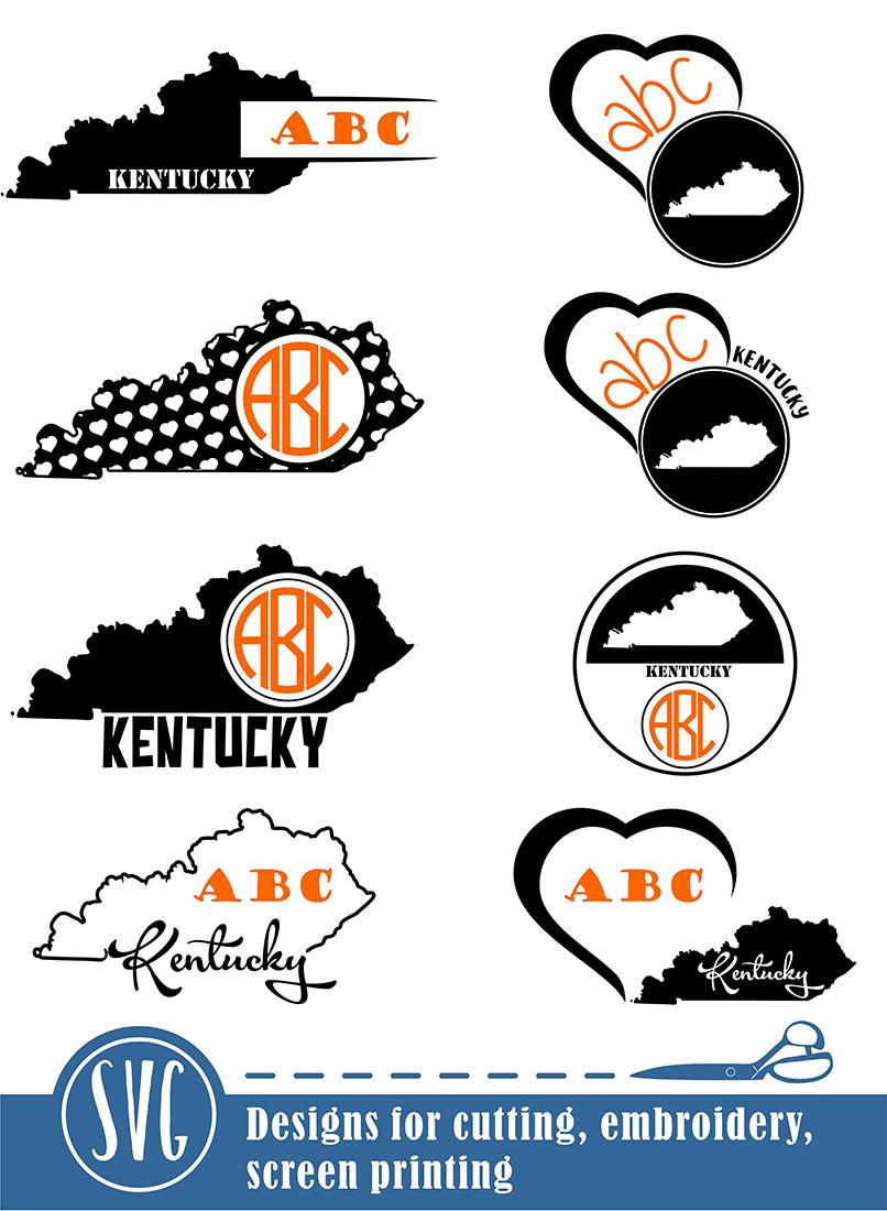 Kentucky Monograms SVG, JPG, PNG, DWG, CDR, EPS, AI example image 2