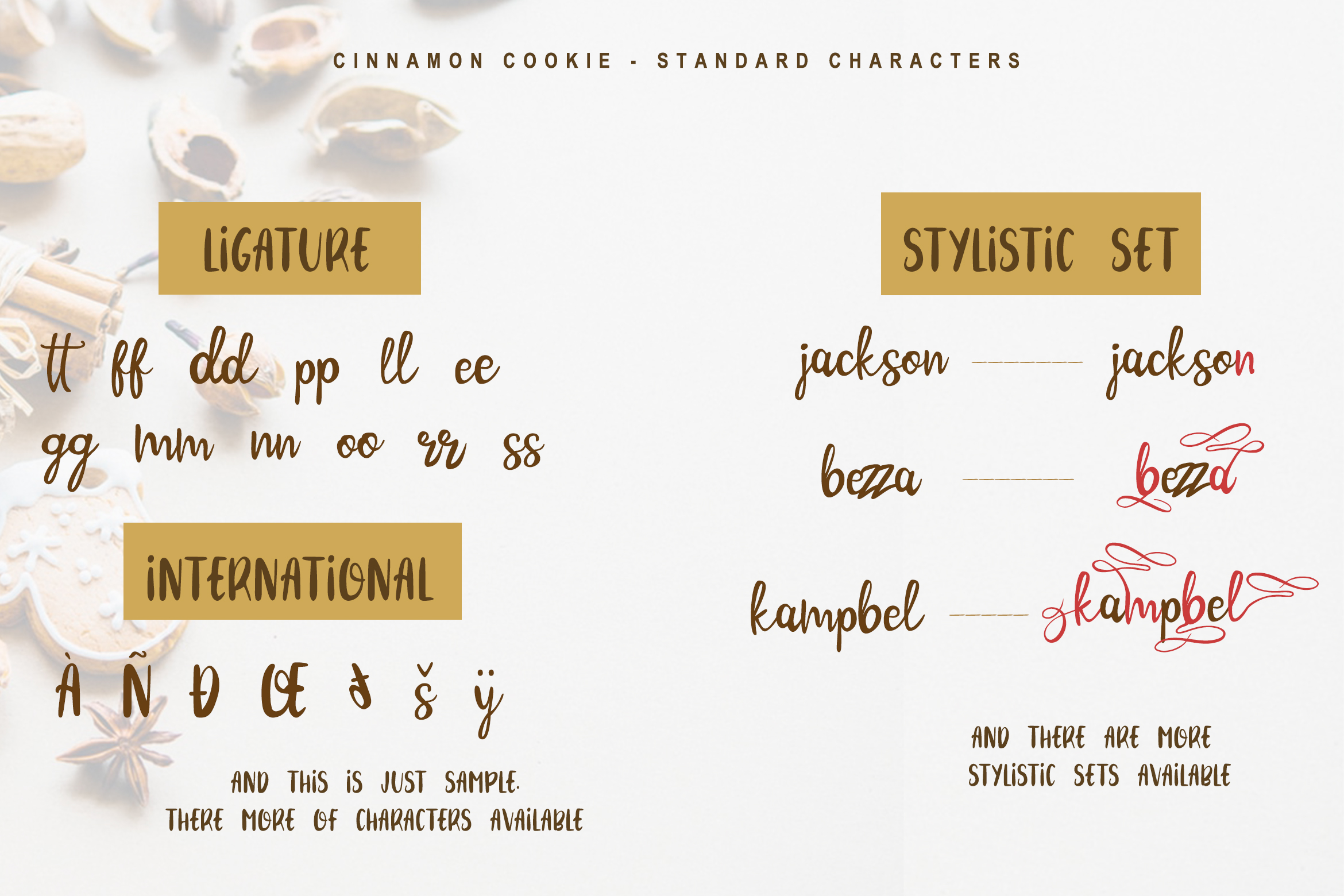 Cinnamon Cookie - Two Style Font example image 6