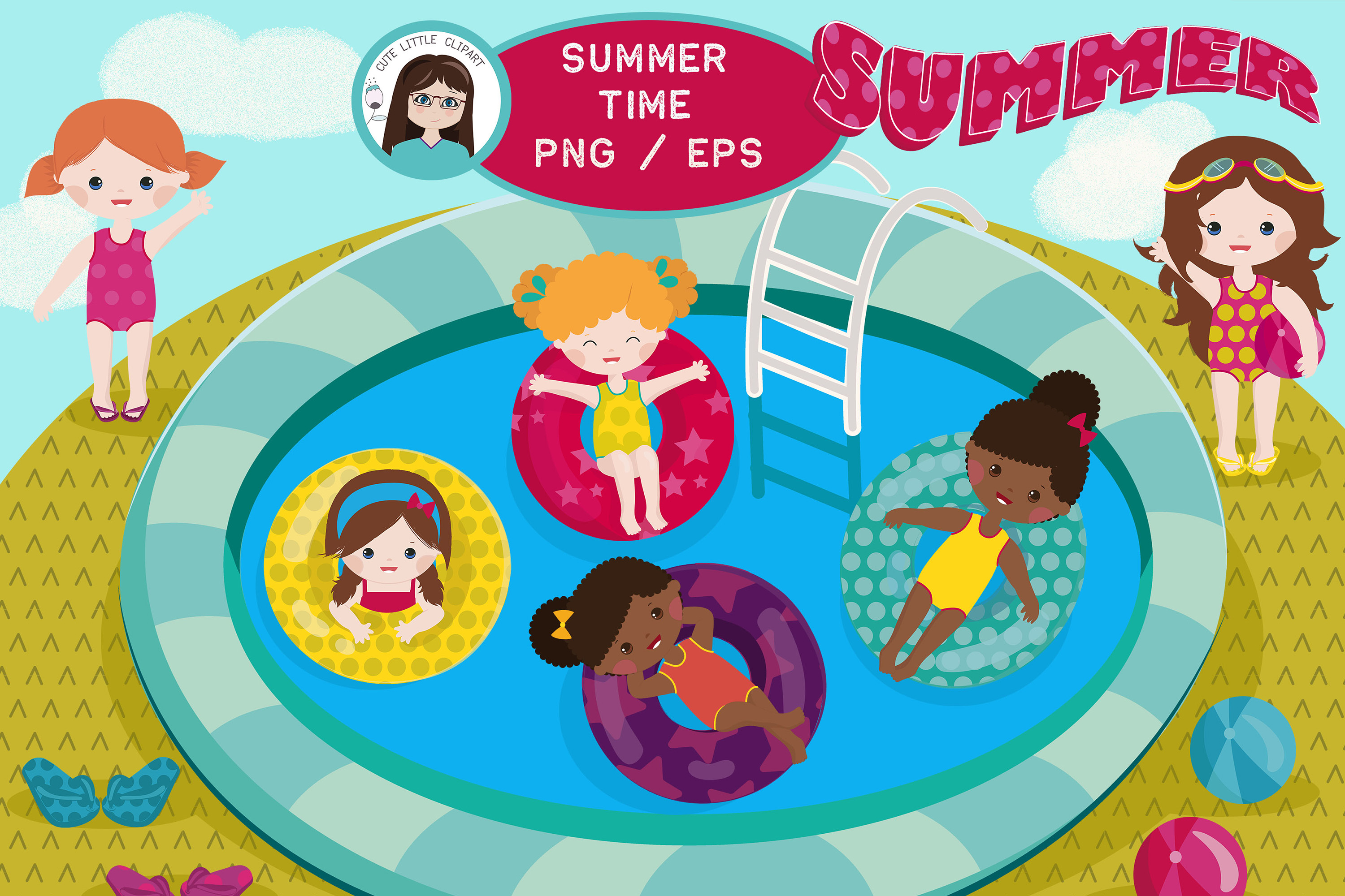 Summer clipart vector example image 1