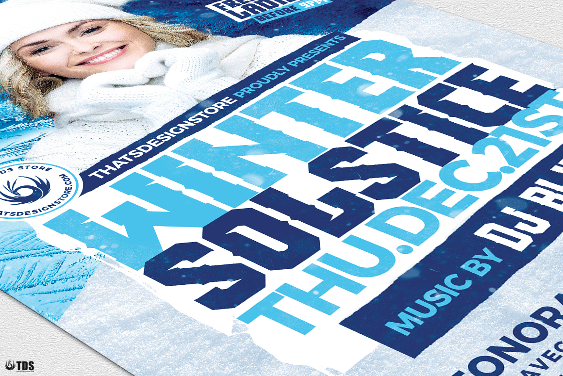 Winter Solstice Flyer Template V4 example image 6