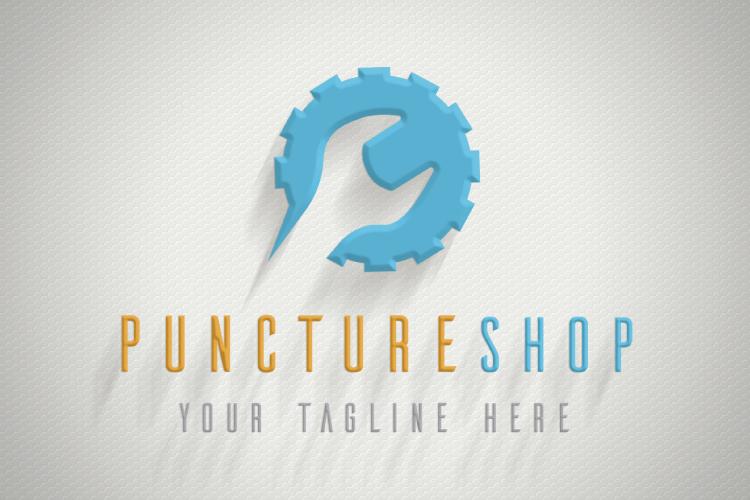 Puncture Mechanic Shop Logo example image 2