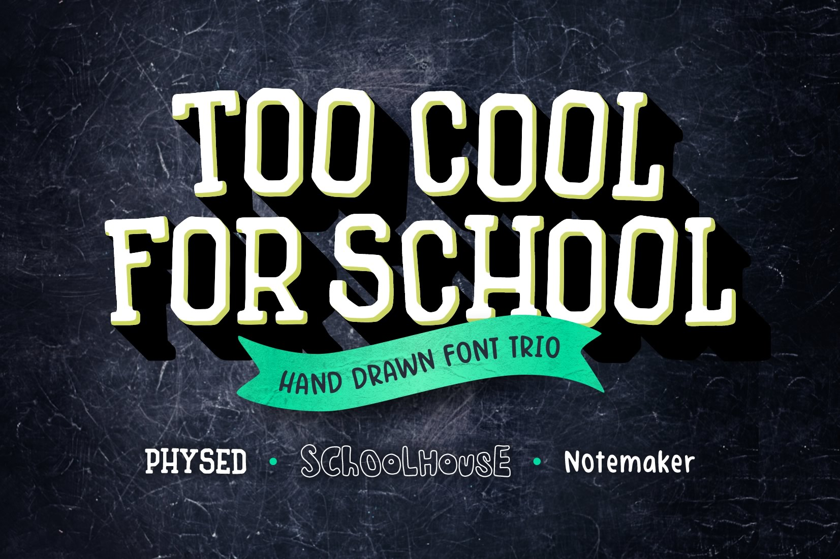 Too Cool for School Font Trio example image 1