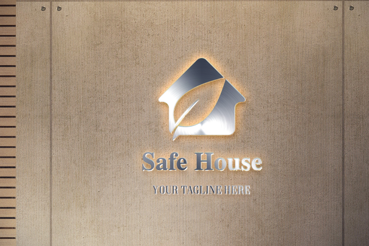 Leaf in House Logo example image 3