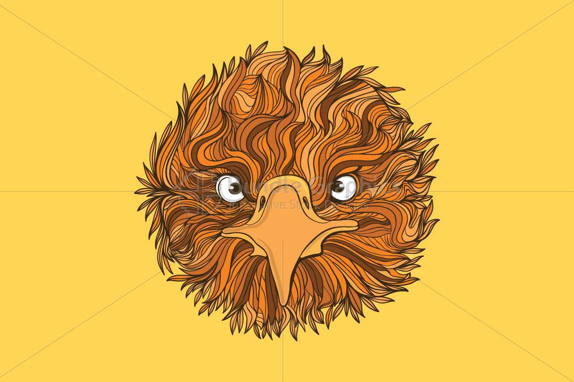 Cute Eagle Bird - Front Profile example image 1