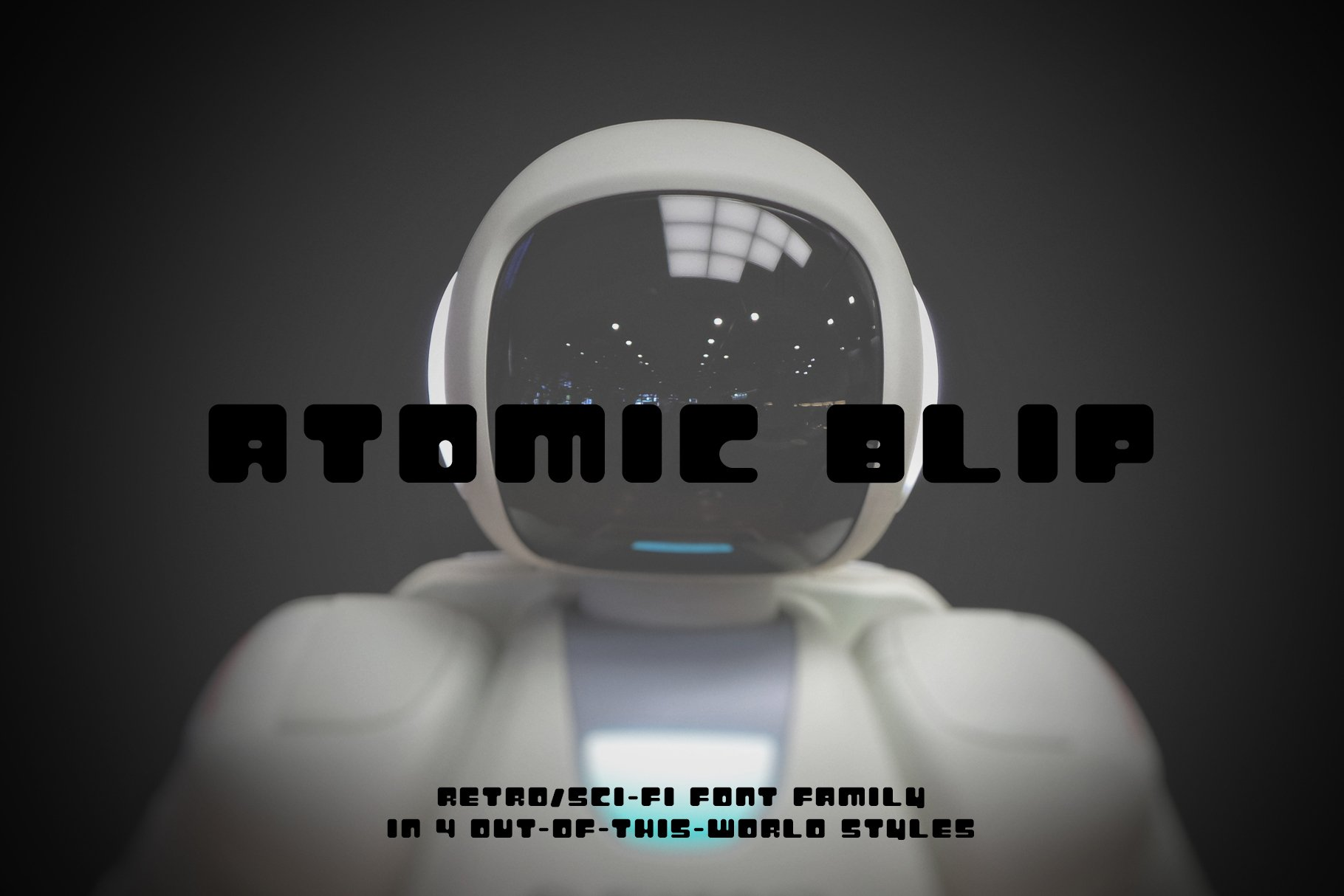 Atomic Blip   Font of the Future! example image 1