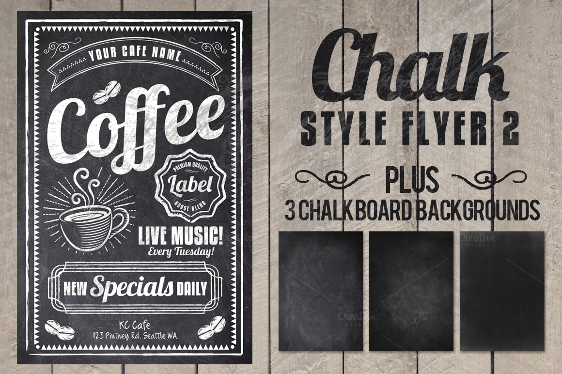 Chalk Style Flyer example image 1