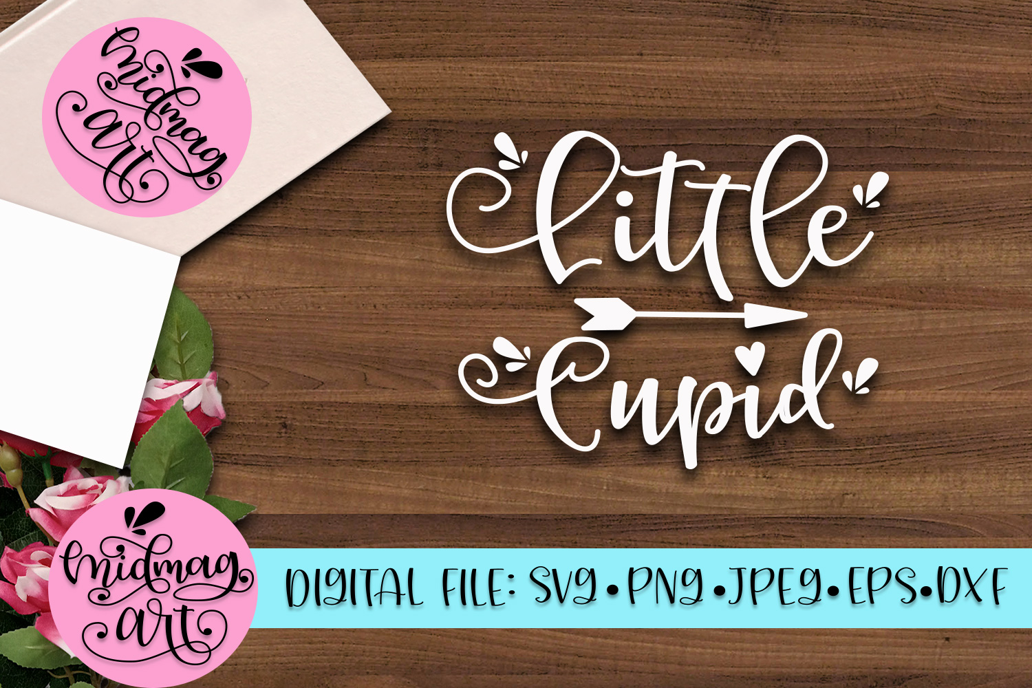 Little Cupid svg, png, jpeg, eps and dxf example image 2