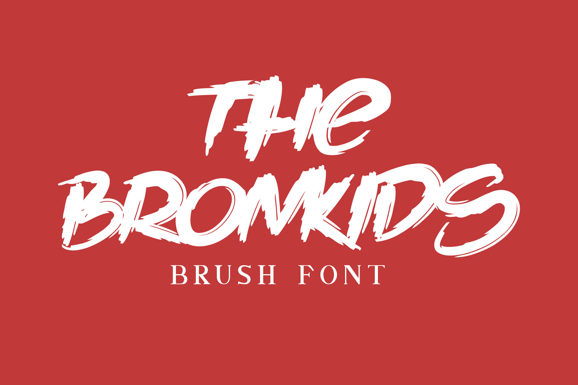 The Bronkids // Brush Font example image 9