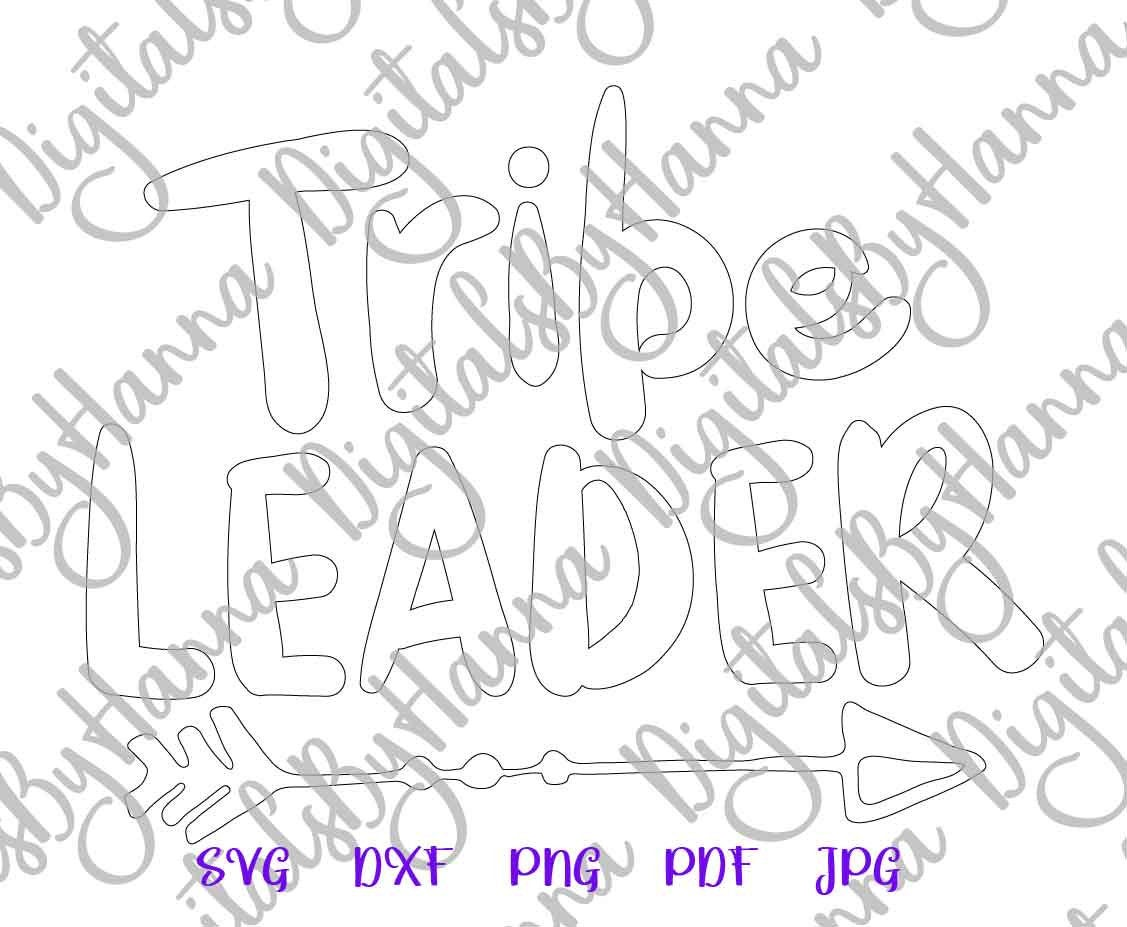 Tribe Leader Family Sign Parenting Print & Cut PNG SVG File example image 7