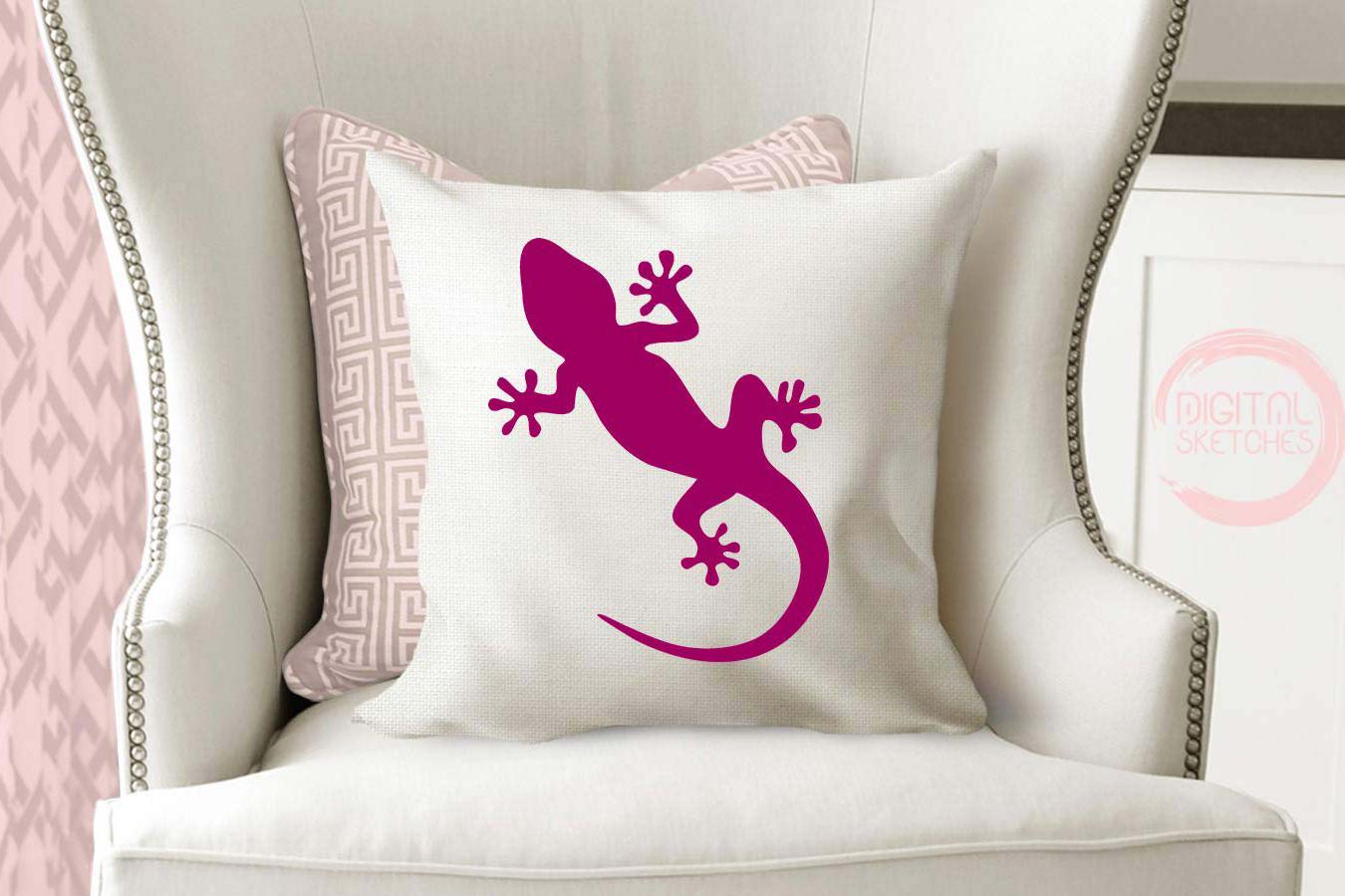 Gecko Cut File, Lizard Cut File, Salamander SVG, Vector example image 4