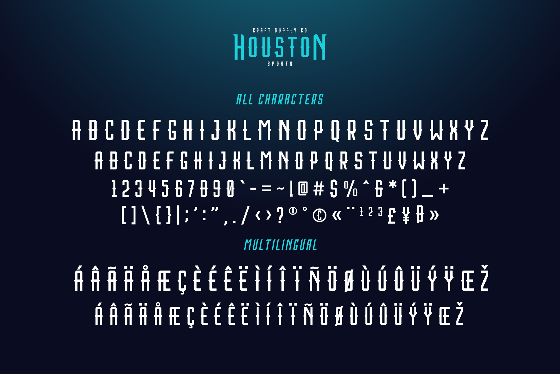 Houston Sports Font Family example image 4