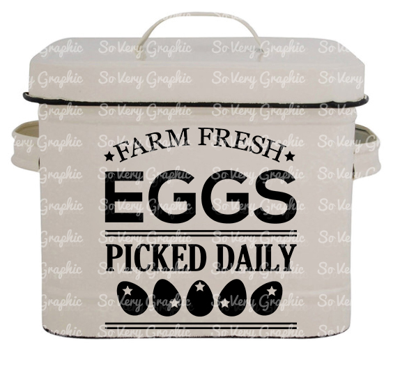 Farm Fresh Eggs | Cutting & Printable File | SVG | PNG example image 2