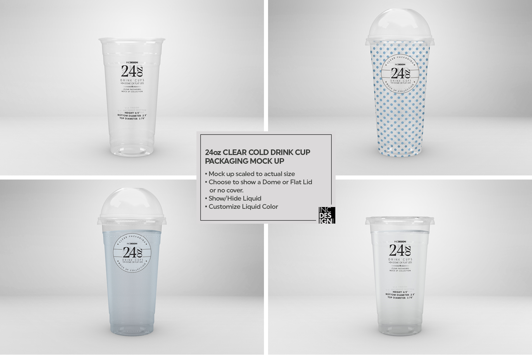 Clear Cold Drink Cups Packaging Mockup example image 19