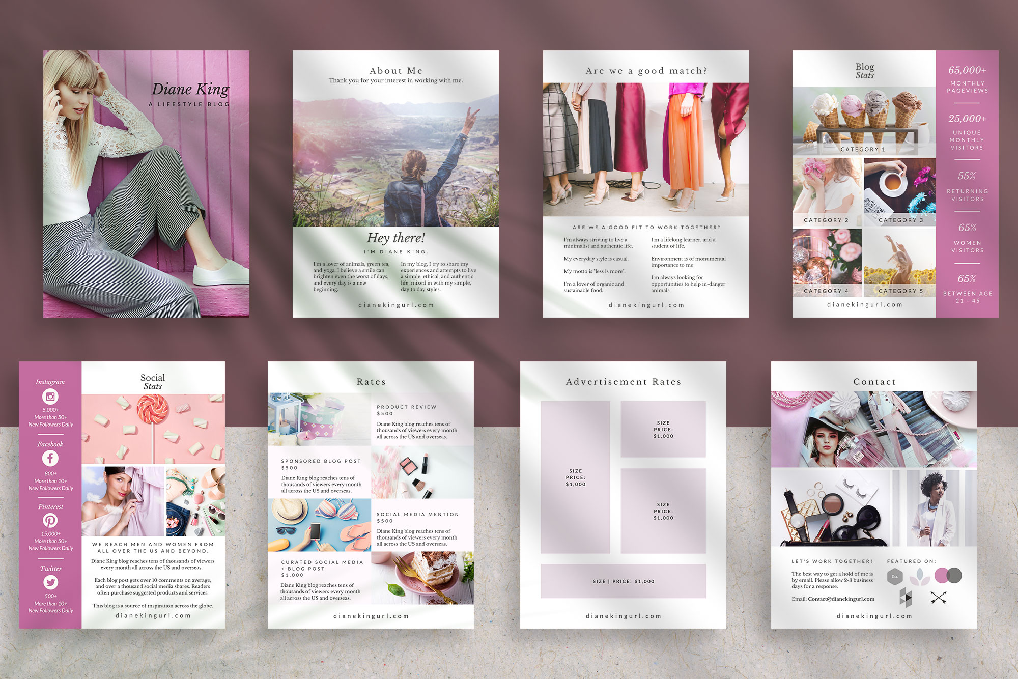 Media Kit Template for Canva | Ivy example image 5