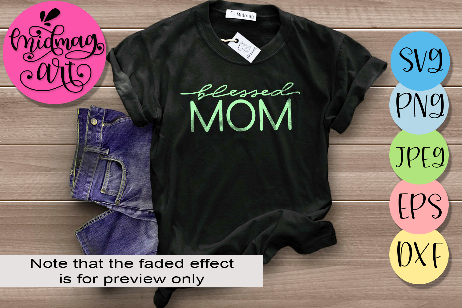 Blessed mom svg, Mother's day 2019 svg file example image 1