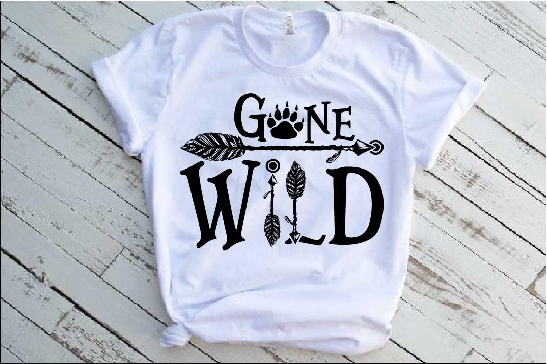 Gone Wild SVG Bear Paw Arrow Stay One Birthday baby 1533s example image 1