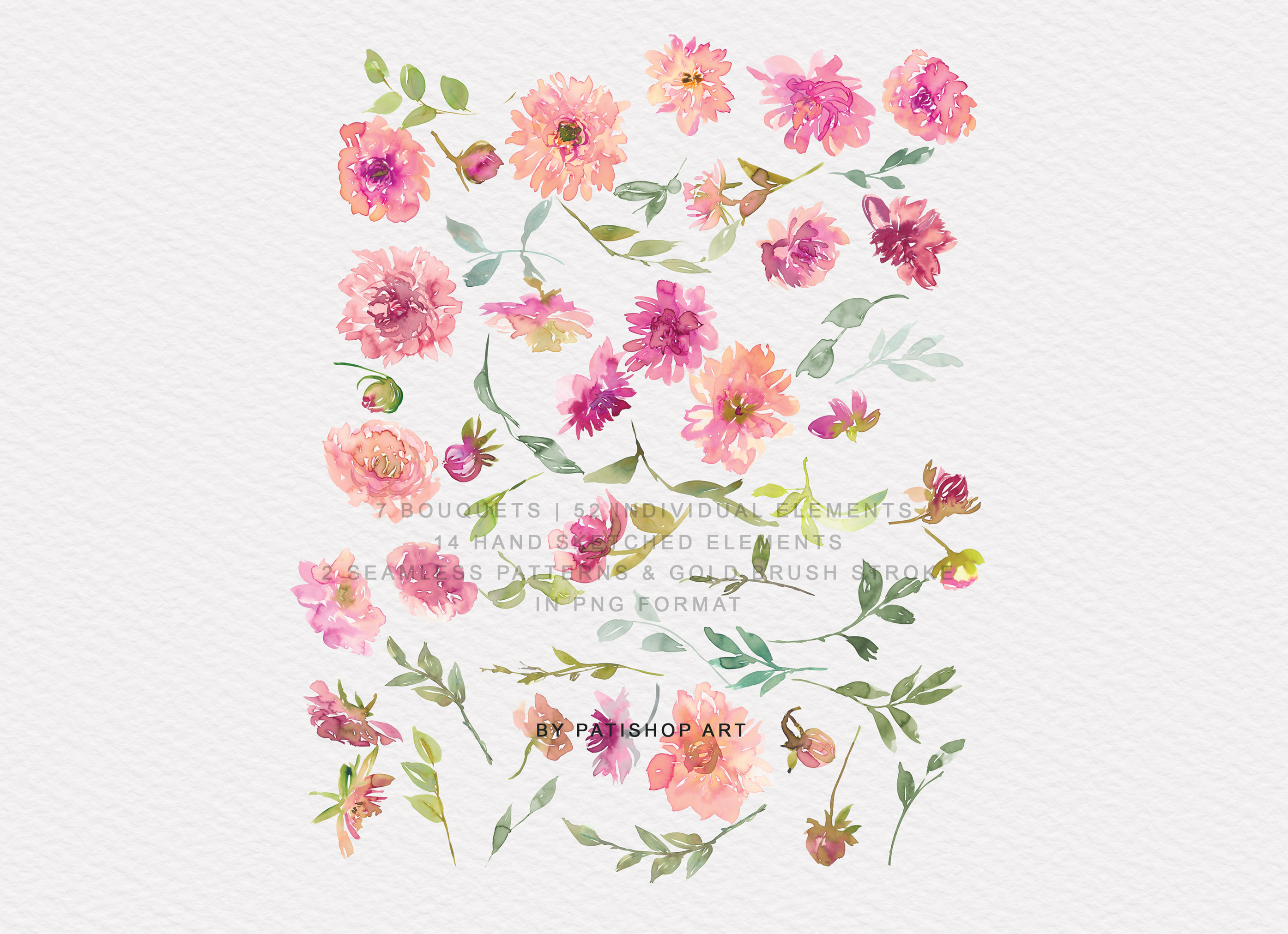Watercolor Dahlia Flowers Clipart Collection example image 10
