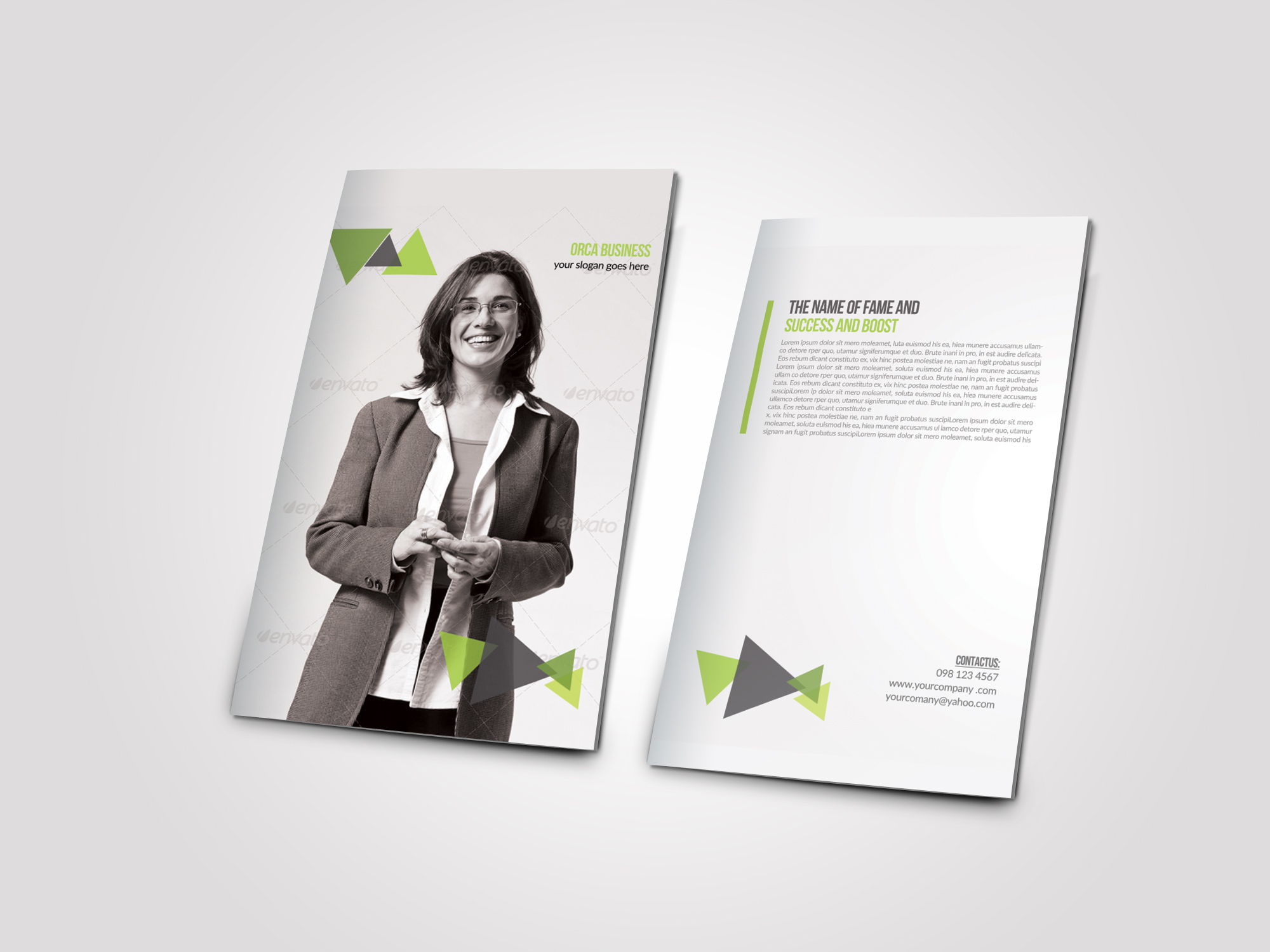 Business Dealing Bifold Brochure example image 3