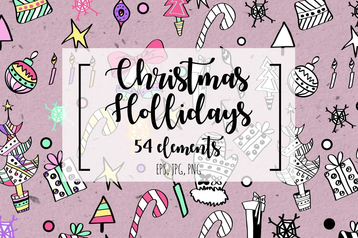 Christmas Hollidays set. example image 1