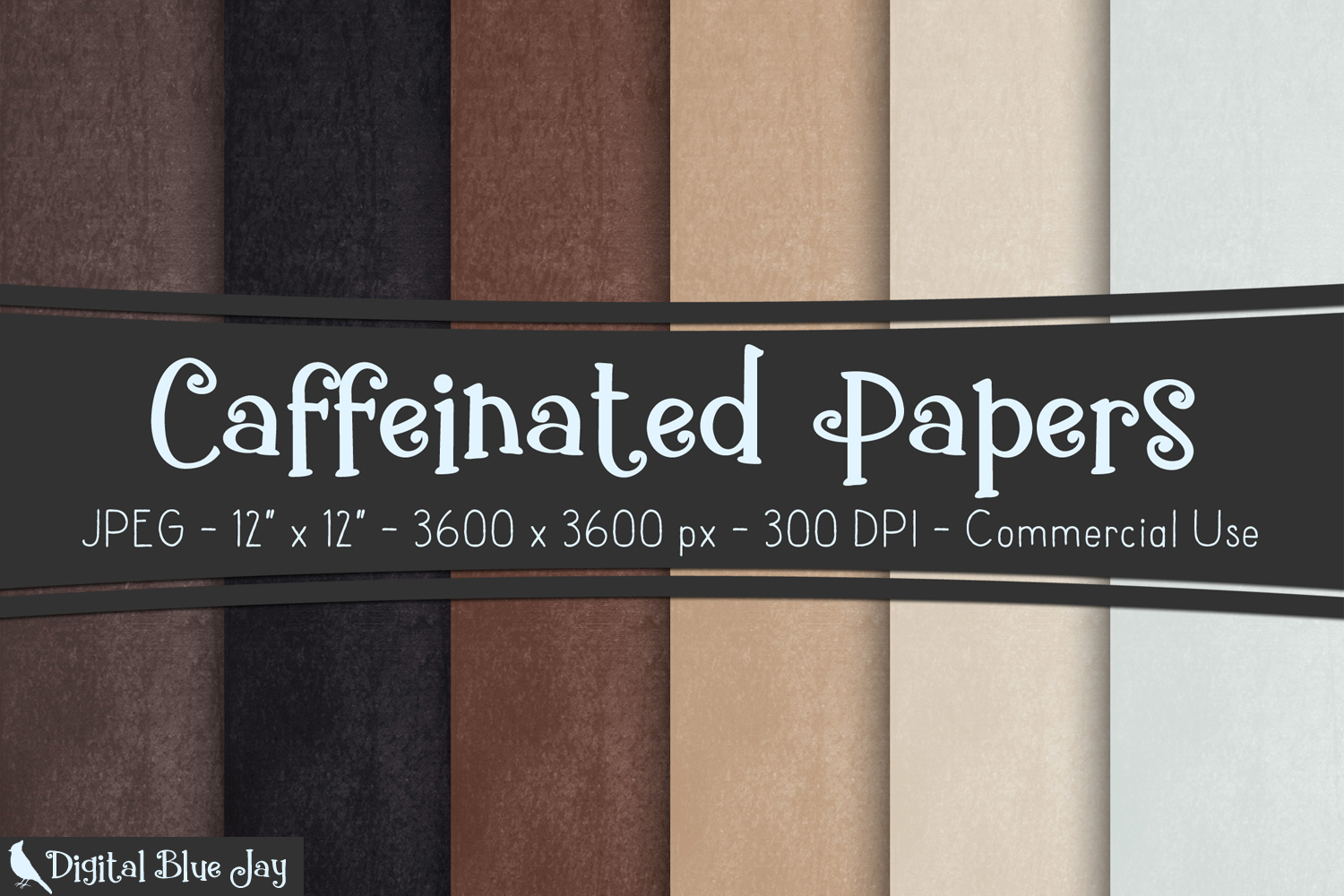 Digital Paper Textured Backgrounds - Caffeinated example image 1