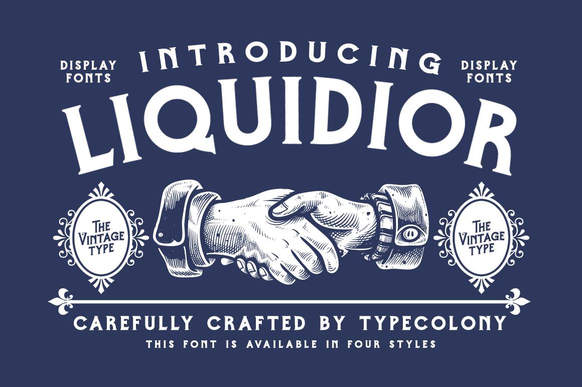 Liquidior Font example image 1