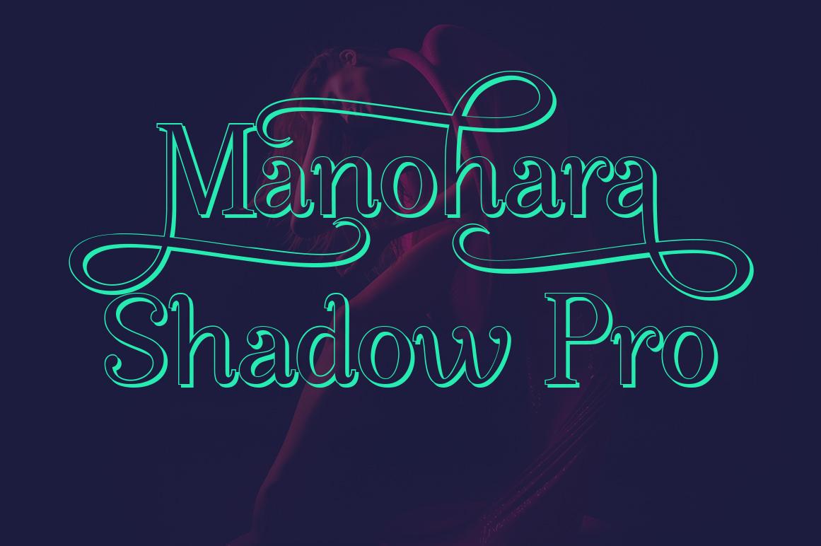 Manohara Pro Family example image 8