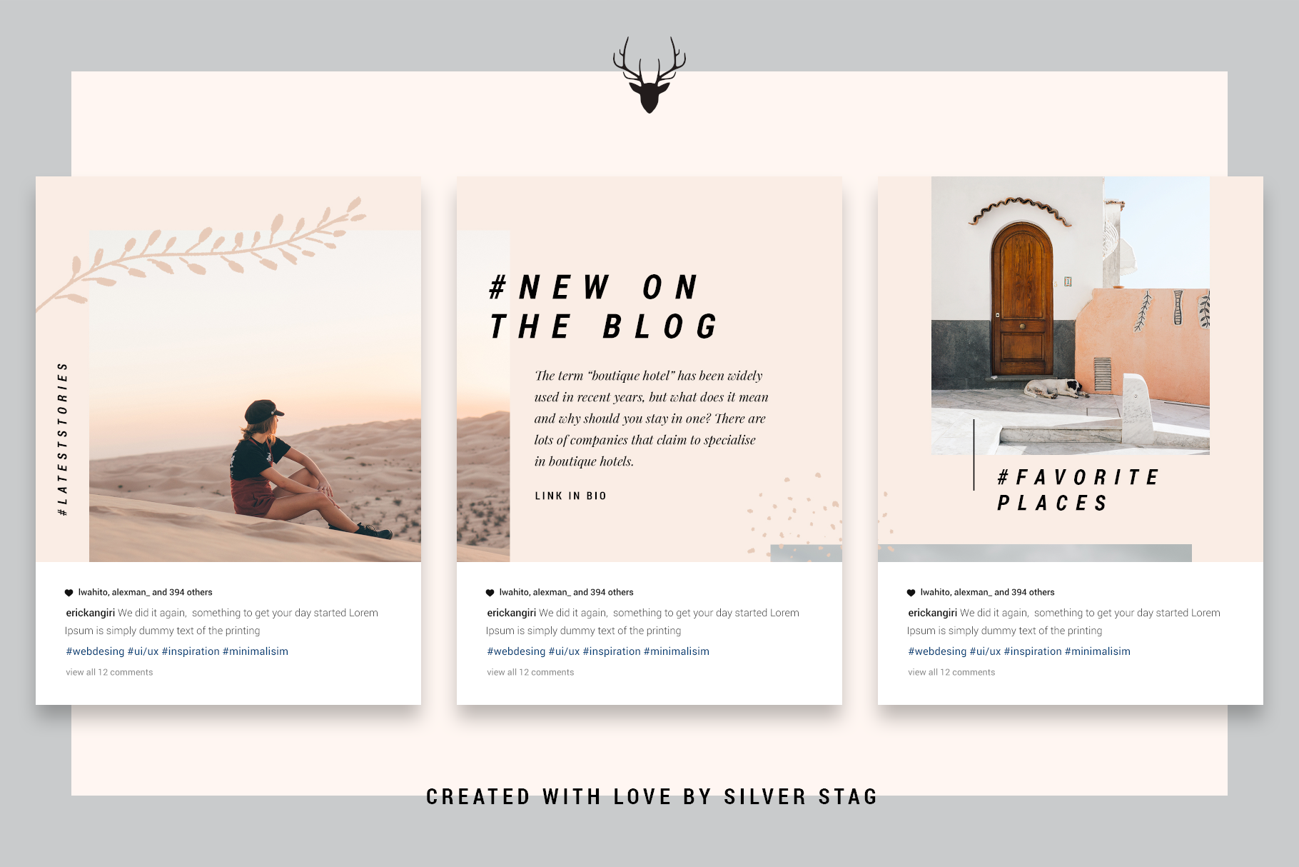 InstaGrid 5.0 - Creative & Modern Instagram Puzzle Template example image 3