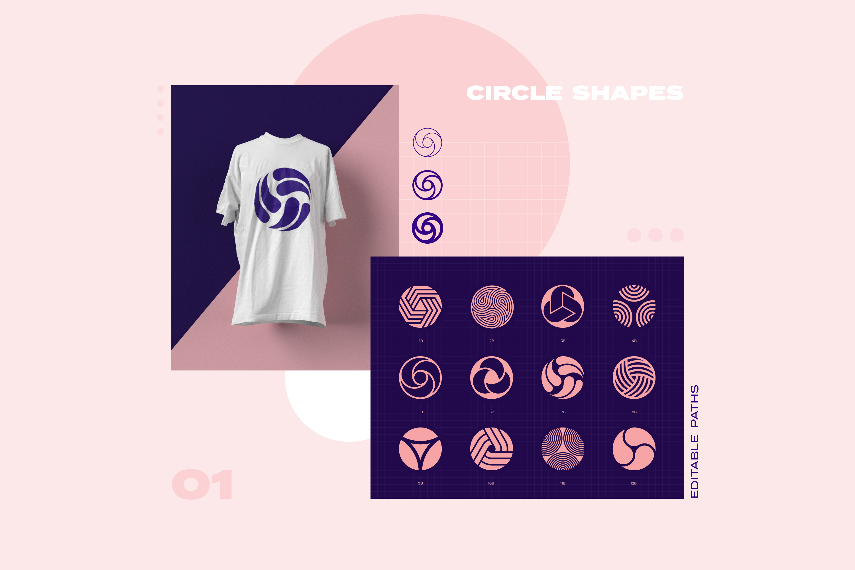 96 Geometric shapes & logo marks collection VOL.1 example image 4