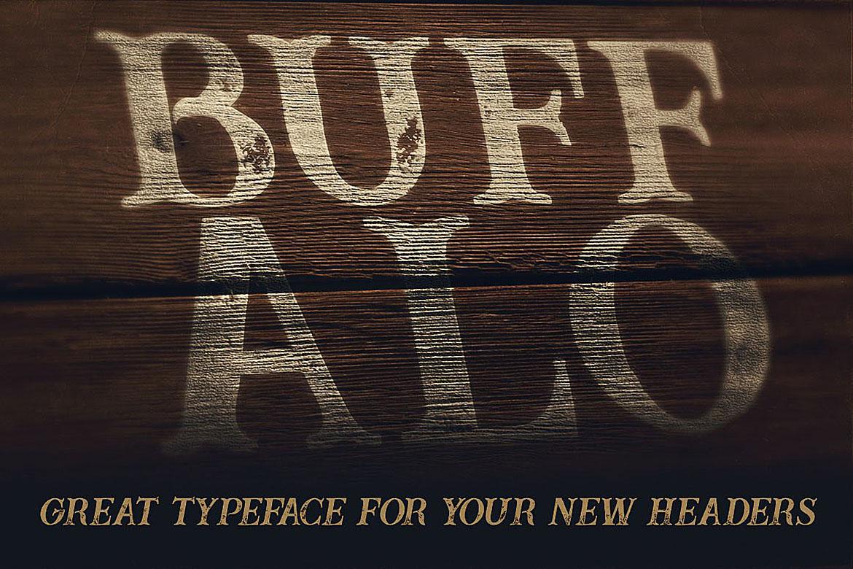 Buffalo Typeface example image 3