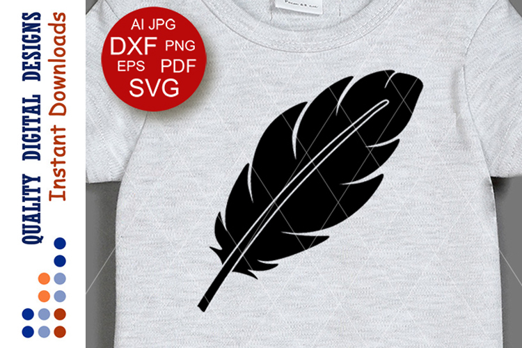 Black feather svg Thanksgiving decor Cricut Silhouette example image 1
