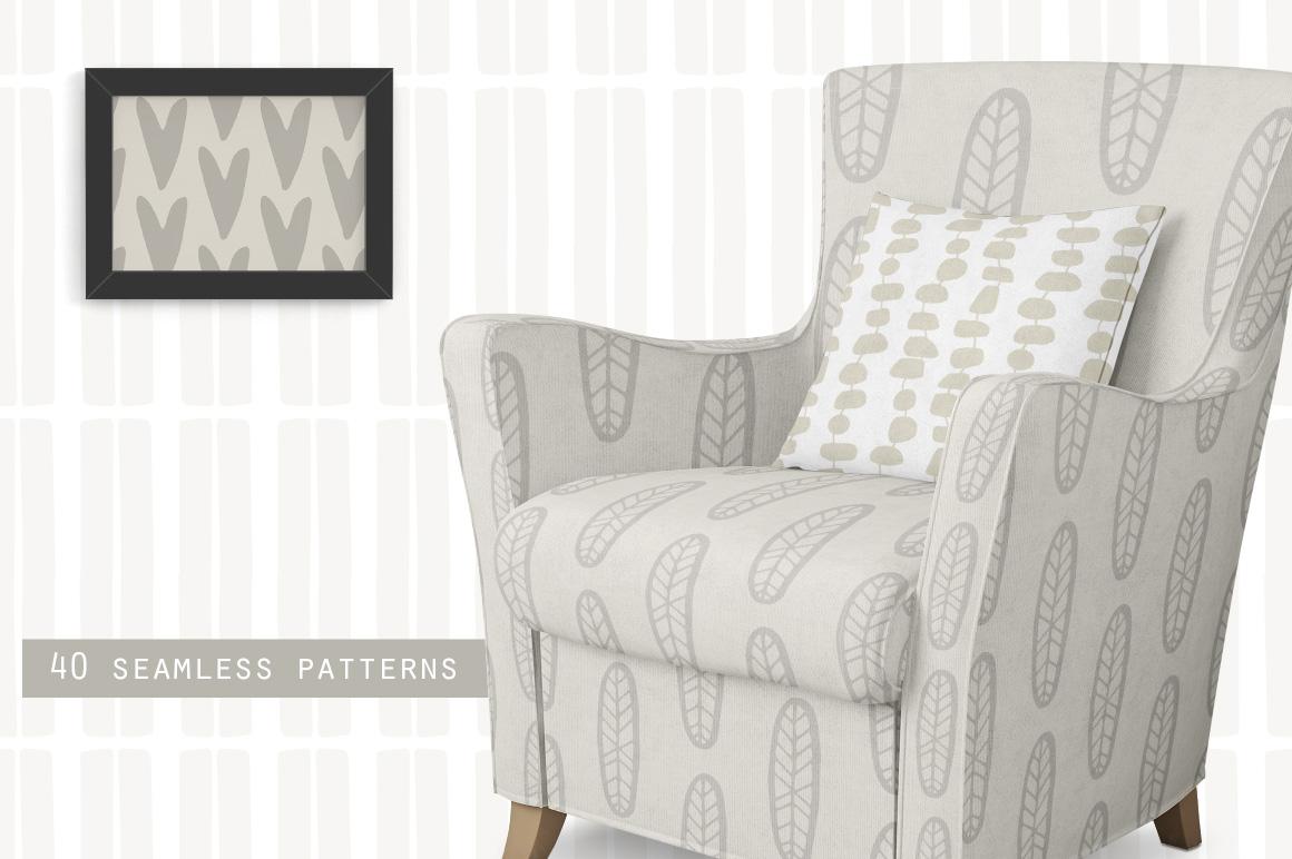 Scandinavian Patterns set of 40 example image 2