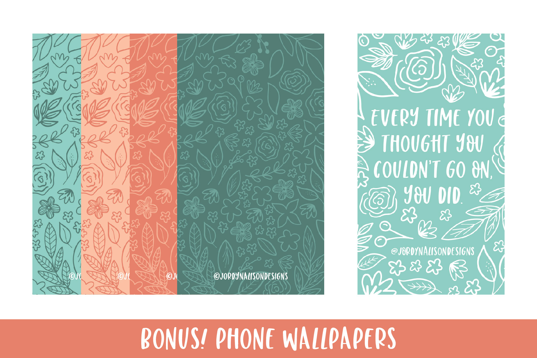 Modern Florals, Hand Drawn Elements & Illustrations example image 6