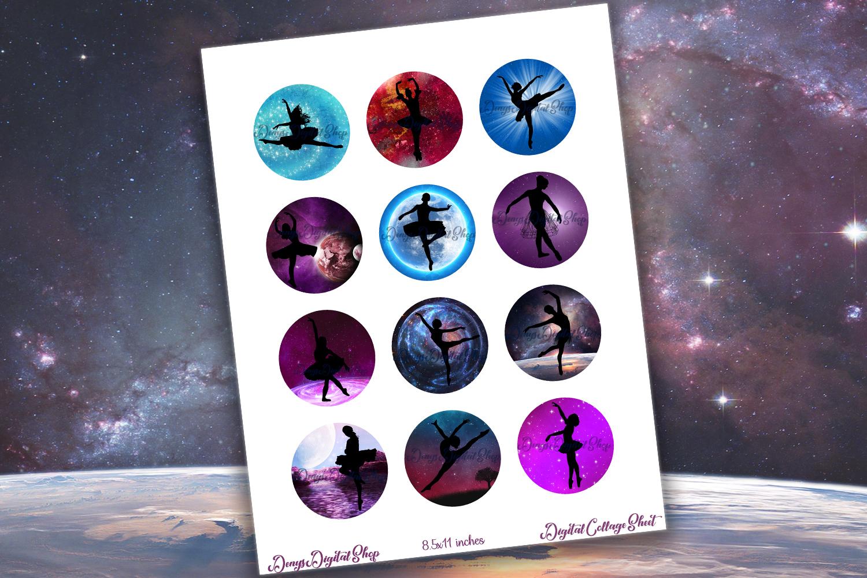 Ballerina Printable,Ballerina Digital Collage Sheet,Ballet example image 2