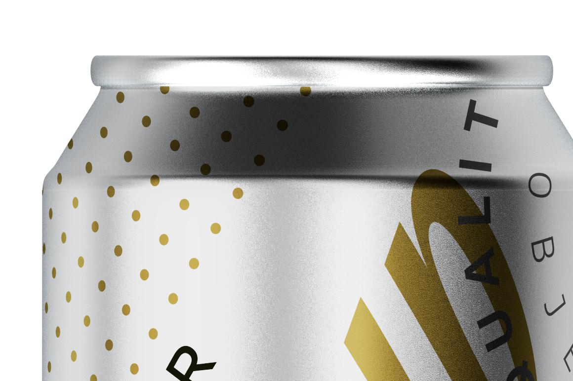 500ml Matte Aluminum Can Mockup example image 4