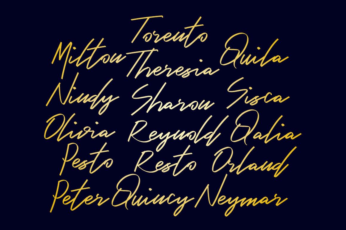 Bambang - Signature Font example image 3