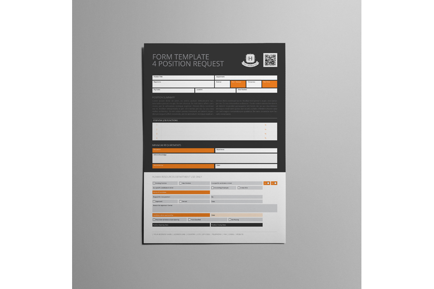 Form Template 4 Position Request example image 2