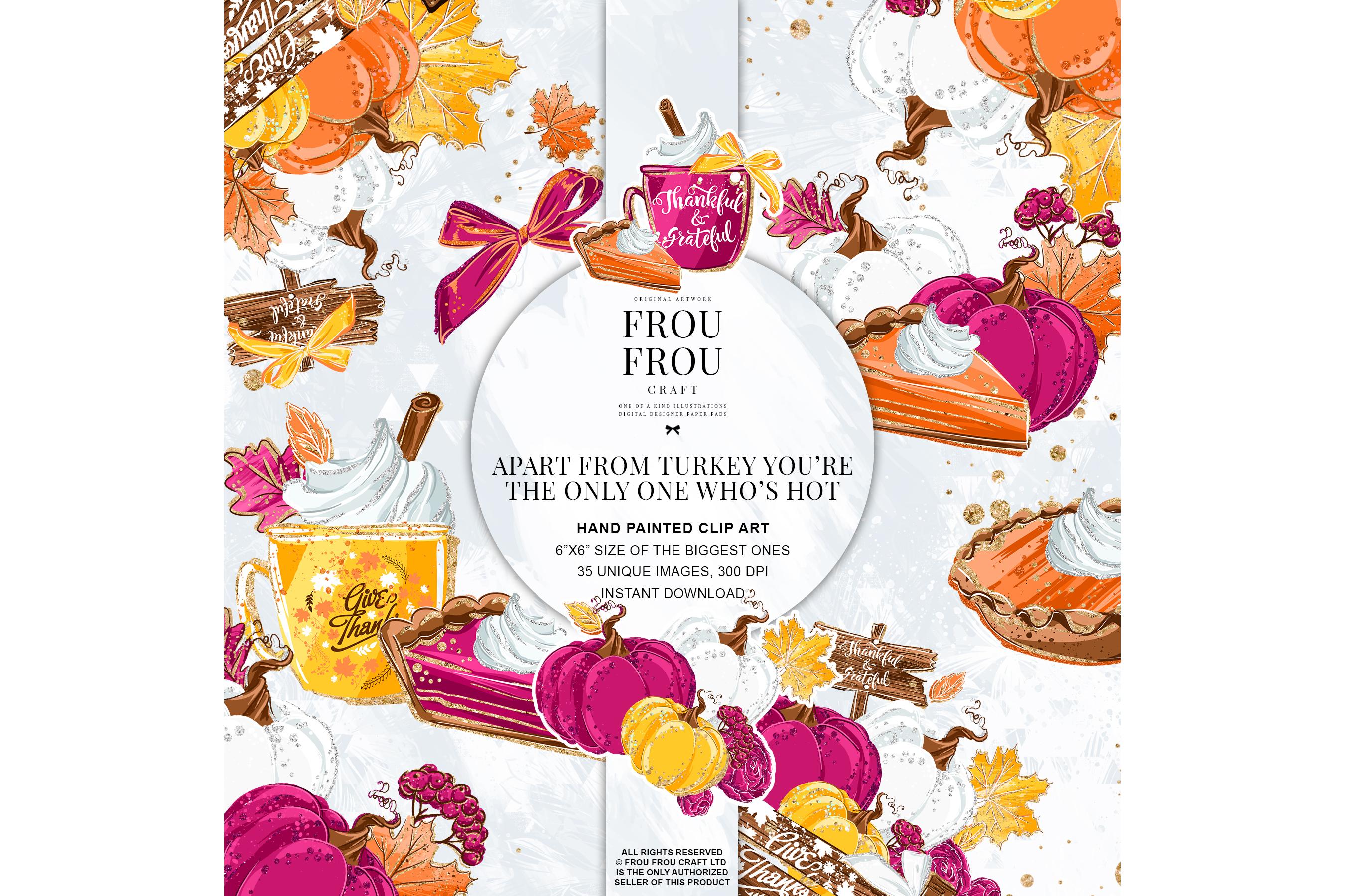 Sweets Cake Pumpkin Pie Fall Autumn Clip Art example image 1