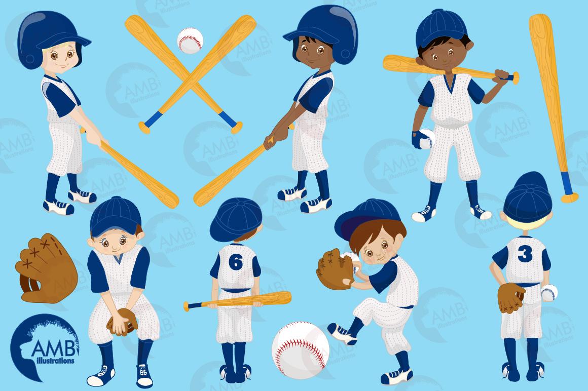 Baseball team, baseball players, graphics, illustrations AMB-1227 example image 3