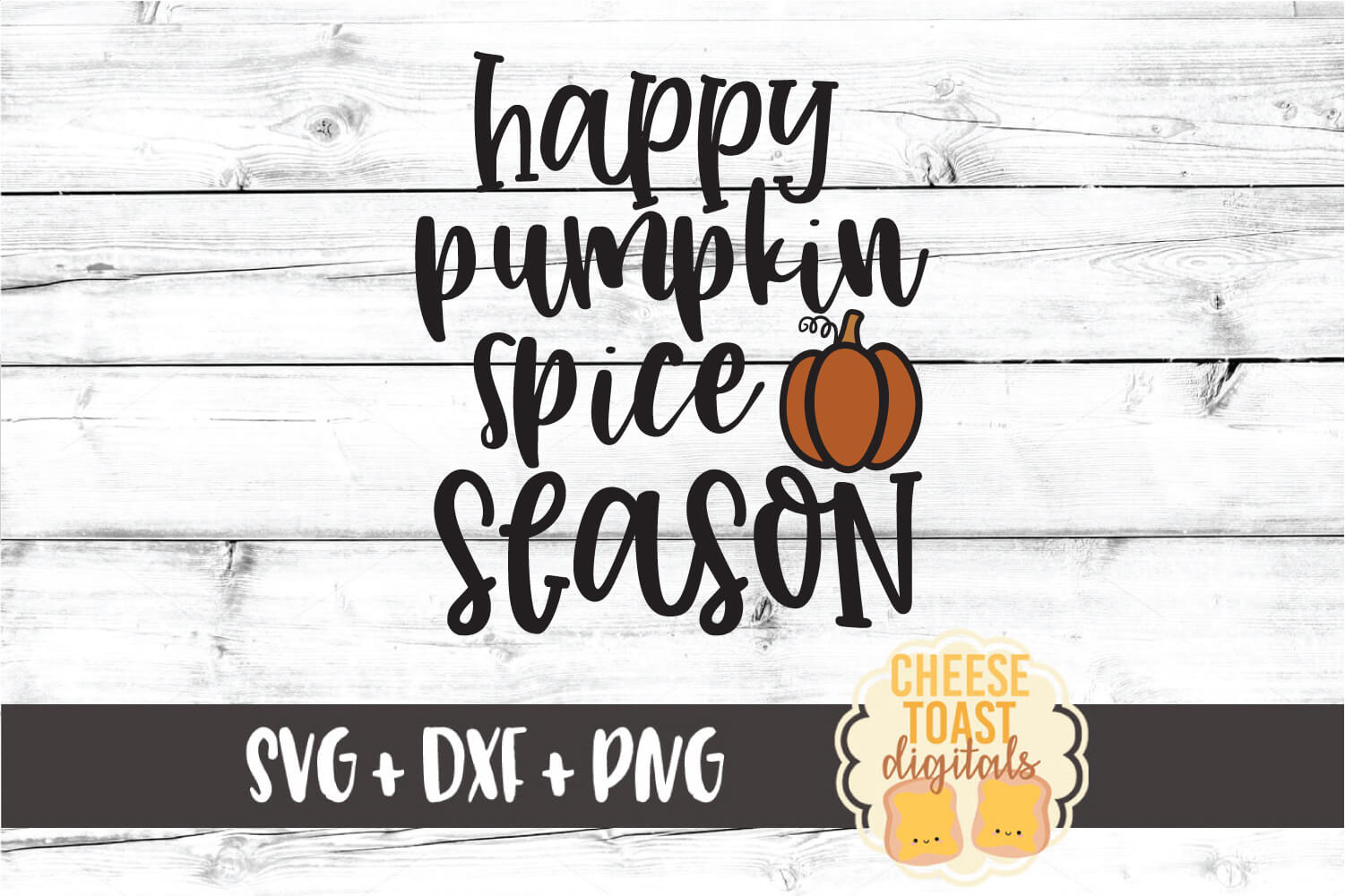 Happy Pumpkin Spice Season - Fall Sign SVG PNG DXF Cut Files example image 2