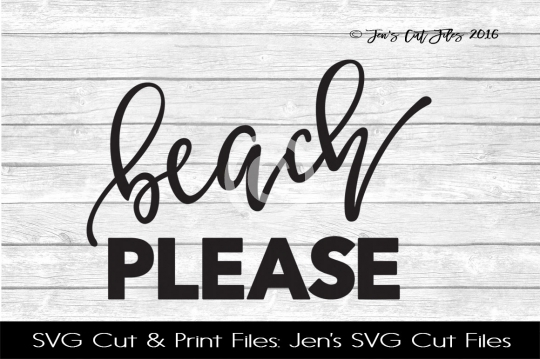 Beach Please SVG Cut File example image 1