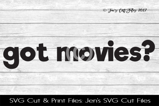 Got Movies SVG Cut File example image 1