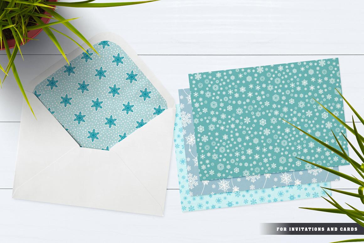 100 Snowflake Seamless Patterns example image 22