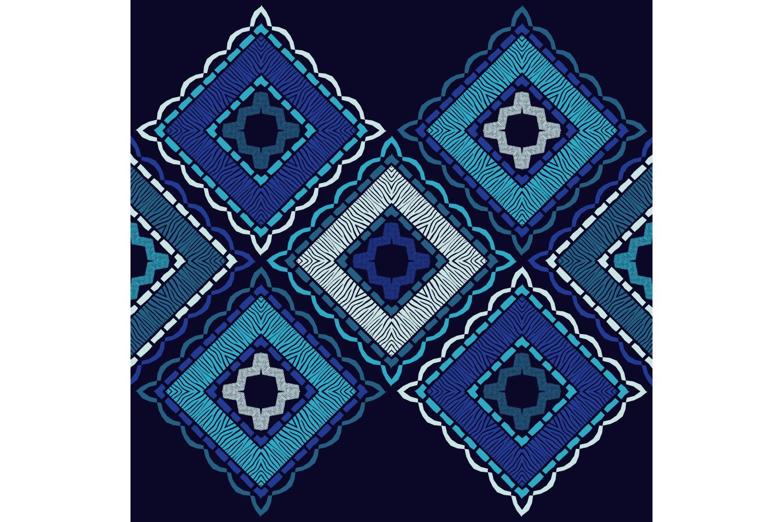 Zebra stripes. Ethnic boho ornament. 10 seamless patterns. example image 8