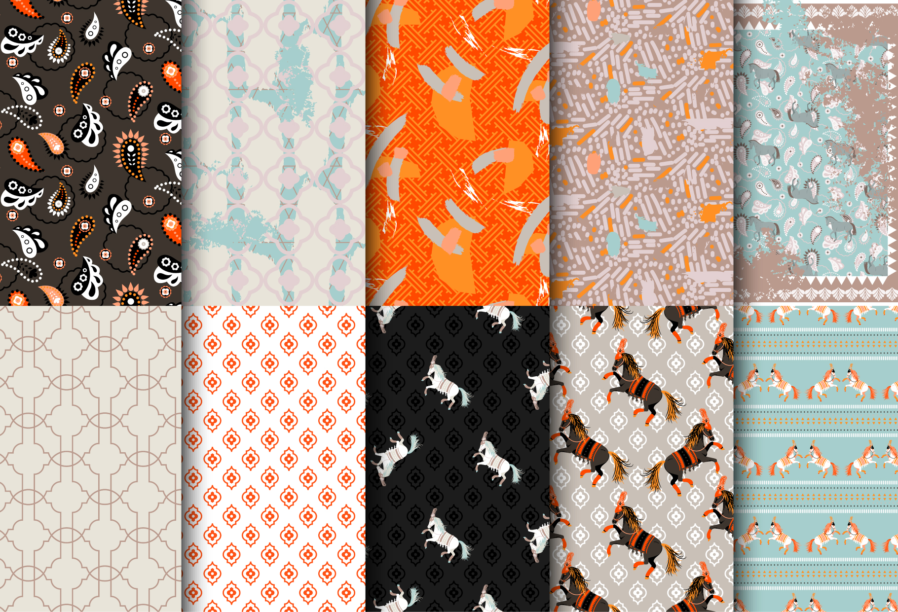 Horse Show - Seamless Patterns example image 2