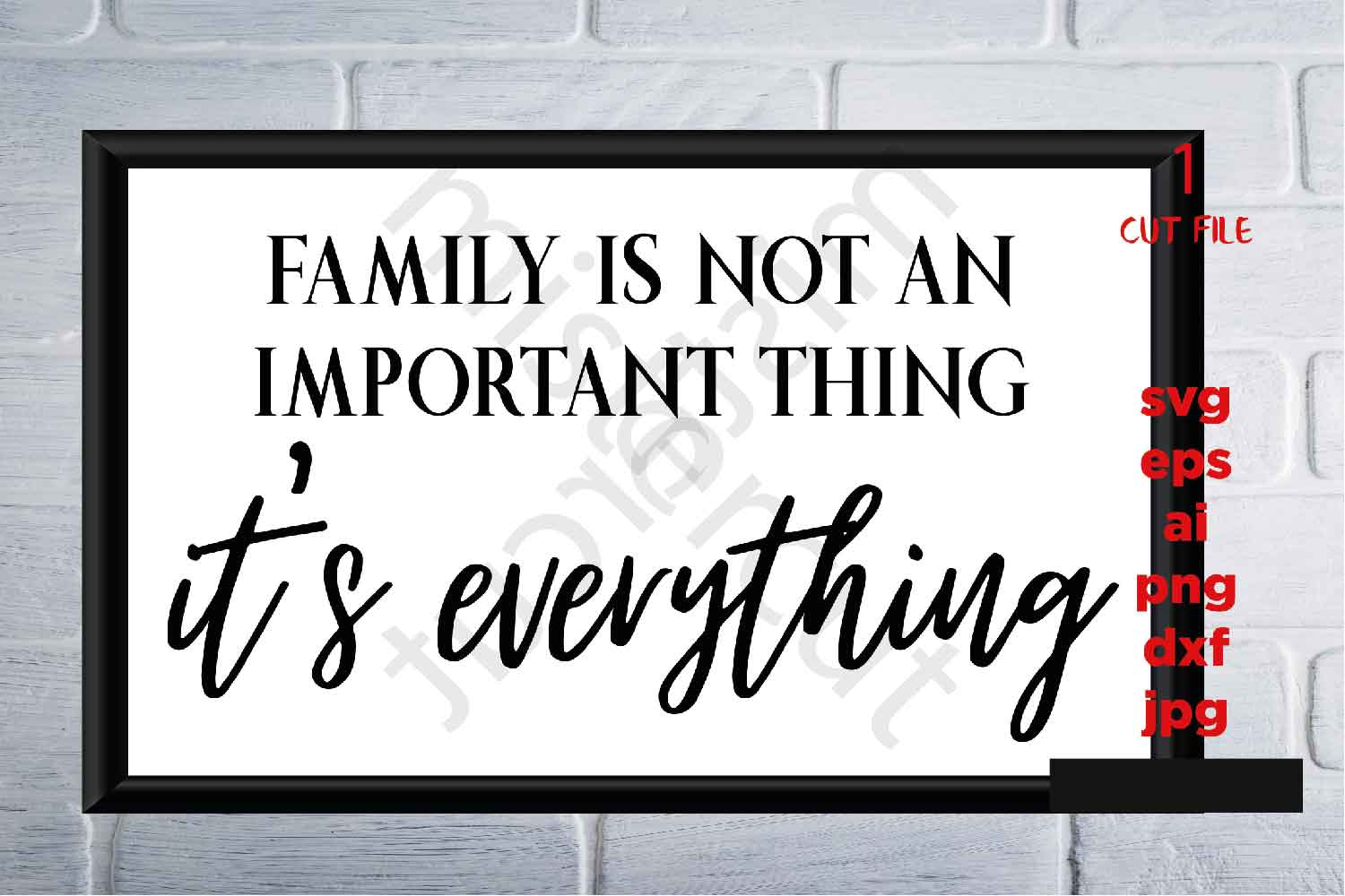 Family is Everything svg, Family svg, thanksgiving, chiristm example image 2