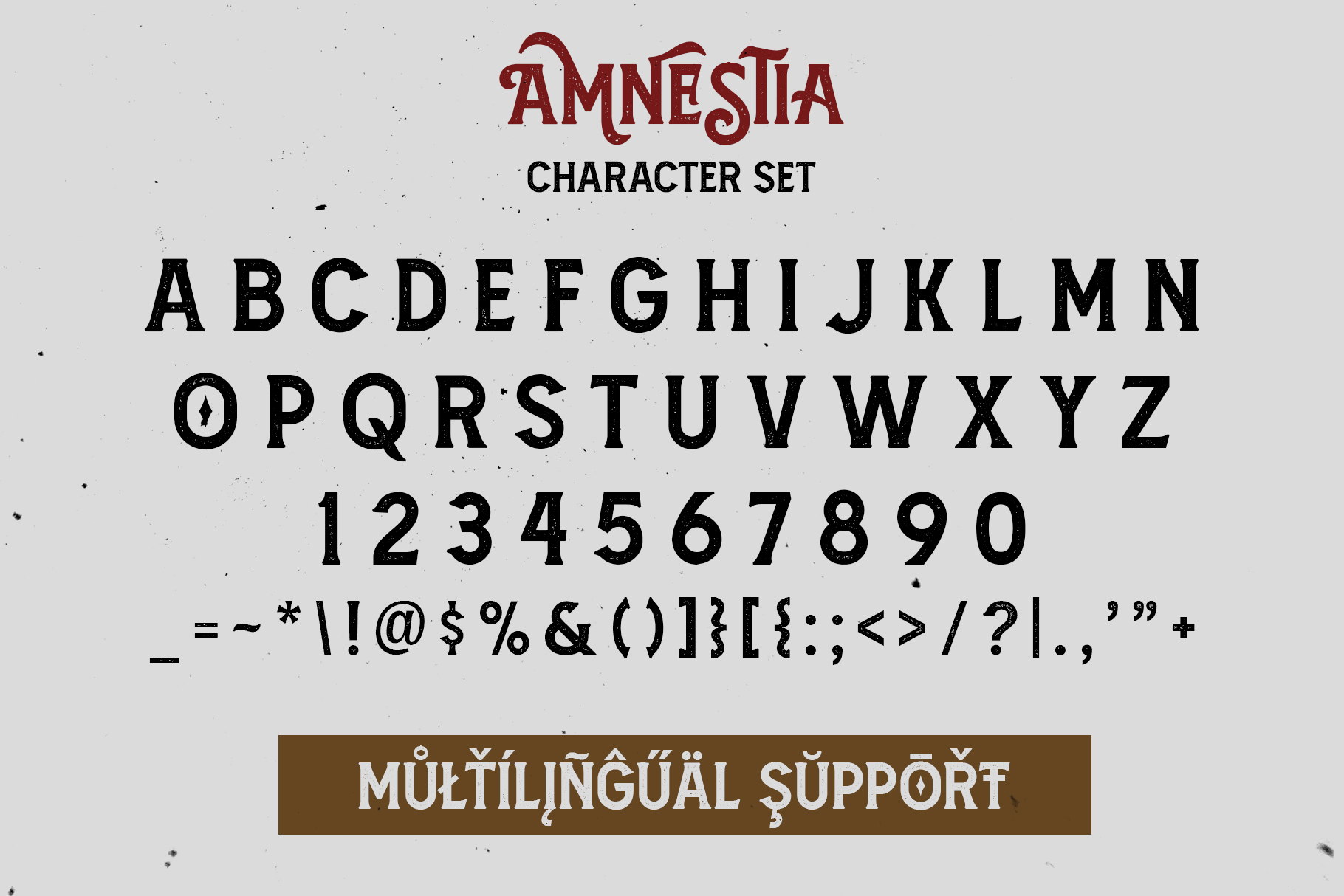 Amnestia Typeface with Extra example image 14