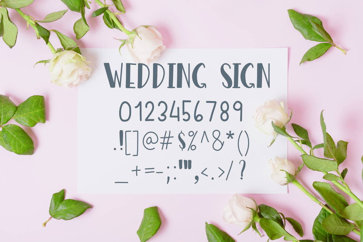Wedding Sign Font example image 3