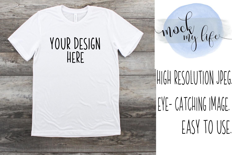 White Bella Canvas Mockup / Plain Shirt Mock up example image 1