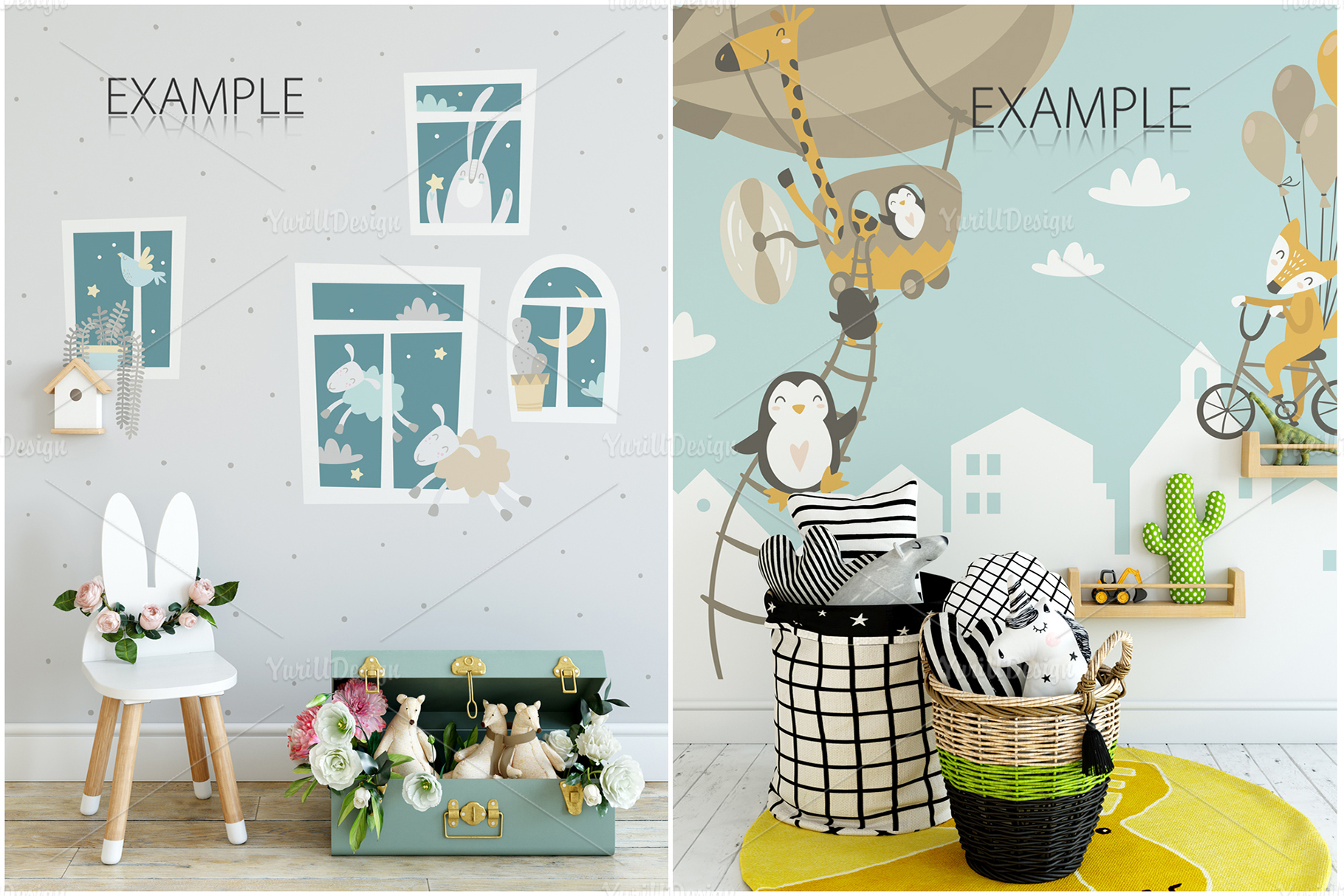 Kids Frames & Wall Mockup Bundle - 5 example image 21